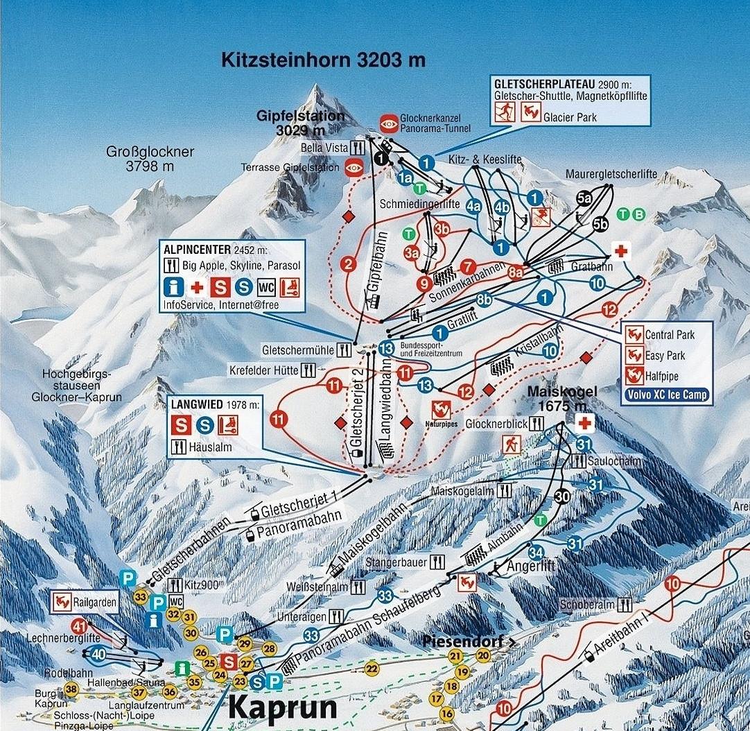 Skimap Kitzsteinhorn