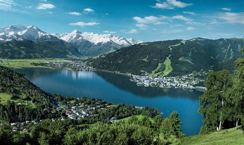Zell am See letní pohled